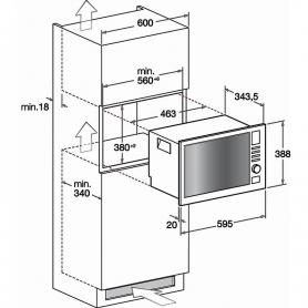 HOTPOINT ARISTON MWHA122.1X FORNO A MICROONDE DA INCASSO 20 LITRI CON GRILL INOX - PROMOZIONE