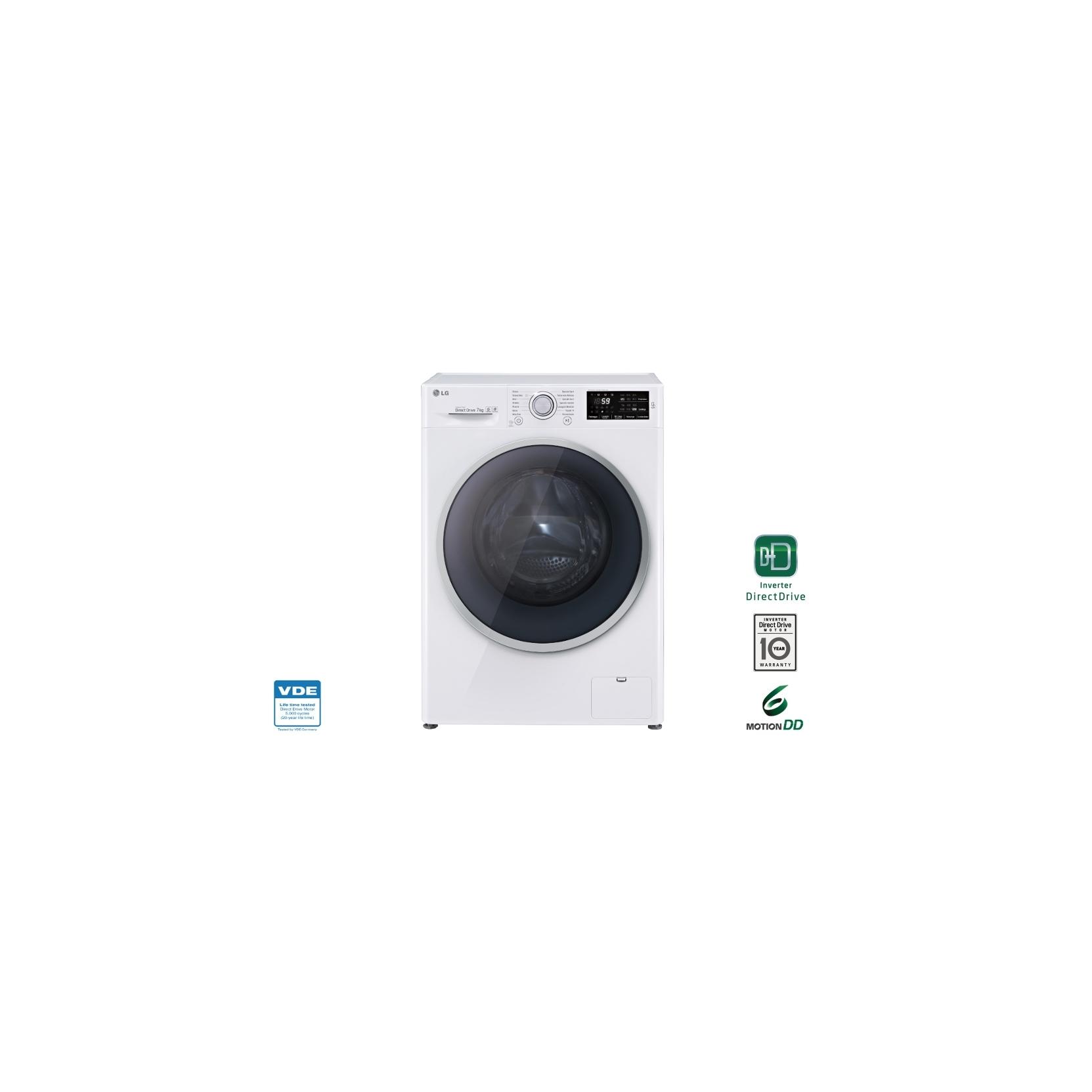 Lg lavatrice f2j8hn2w 7kg classe a 1200 giri garanzia for Lavatrice lg 7 kg