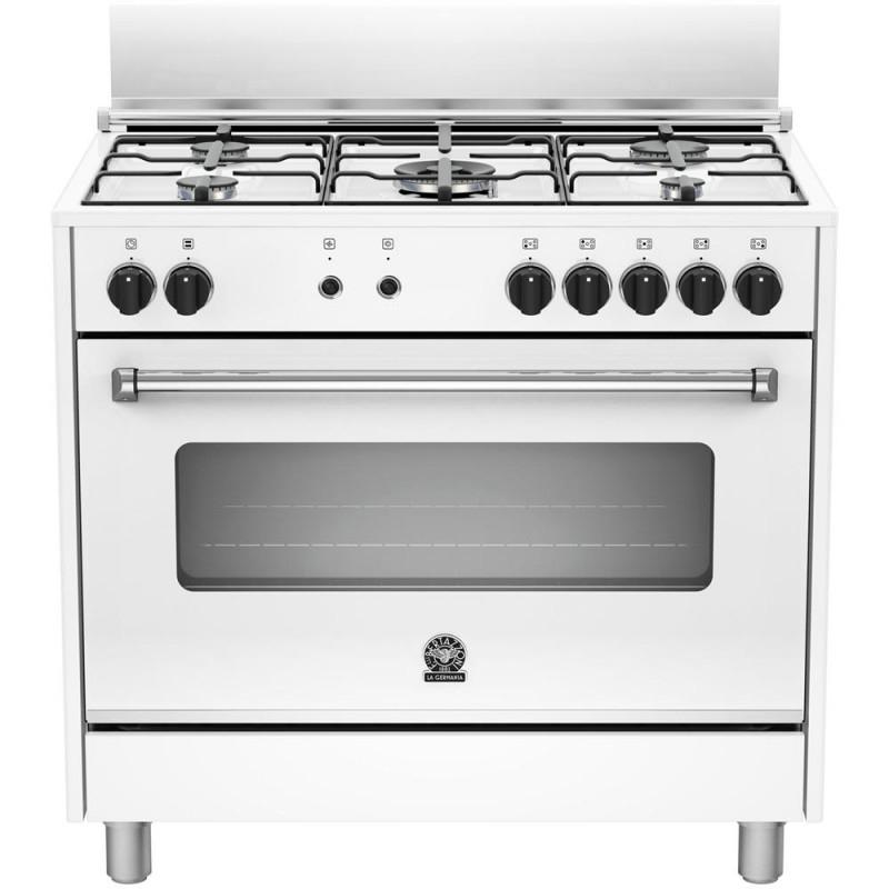La germania amn905mfeswc cucina 5 fuochi a gas forno elettrico ventilato 90x60 bianca garanzia - Cucine a gas samsung ...