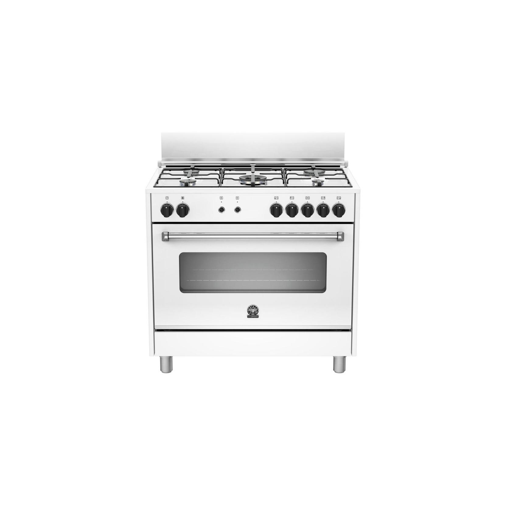 La germania amn905mfeswc cucina 5 fuochi a gas forno elettrico ventilato 90x60 bianca garanzia - Cucina con forno a gas ventilato ...