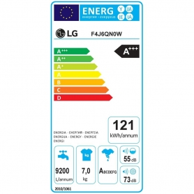 LAVATRICE LG F4J6QNOW CARICA FRONTALE CLASSE A+++-30% 7 KG 1400 GIRI BIANCO - PROMOZIONE