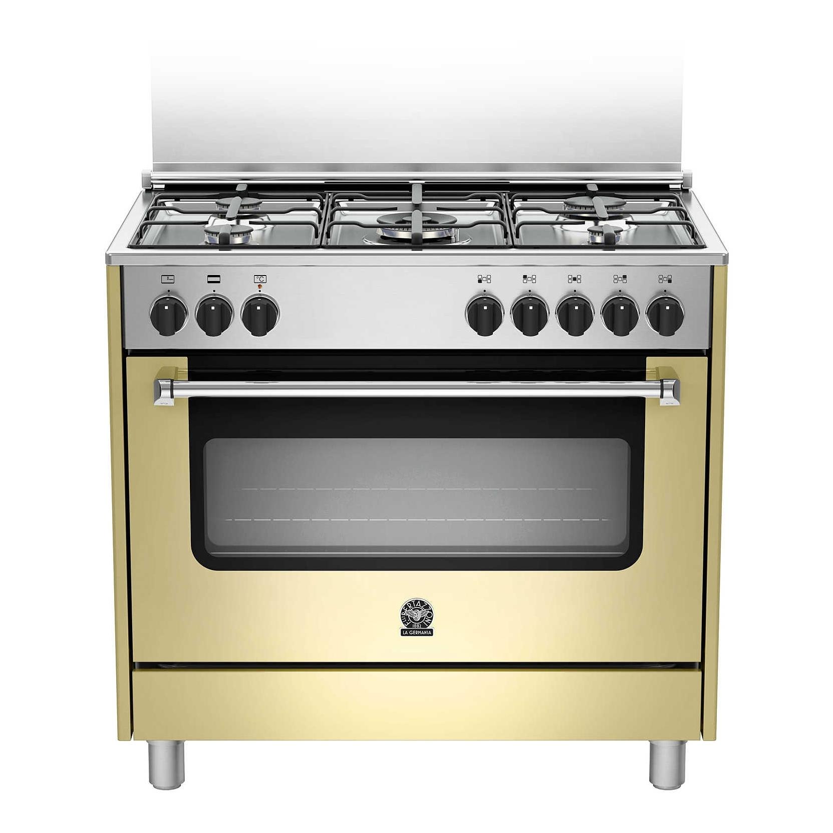 Cucina la germania ams95c61ccr 90x60 colore crema forno elettrico ventilato elettrovillage - Cucine a gas la germania ...