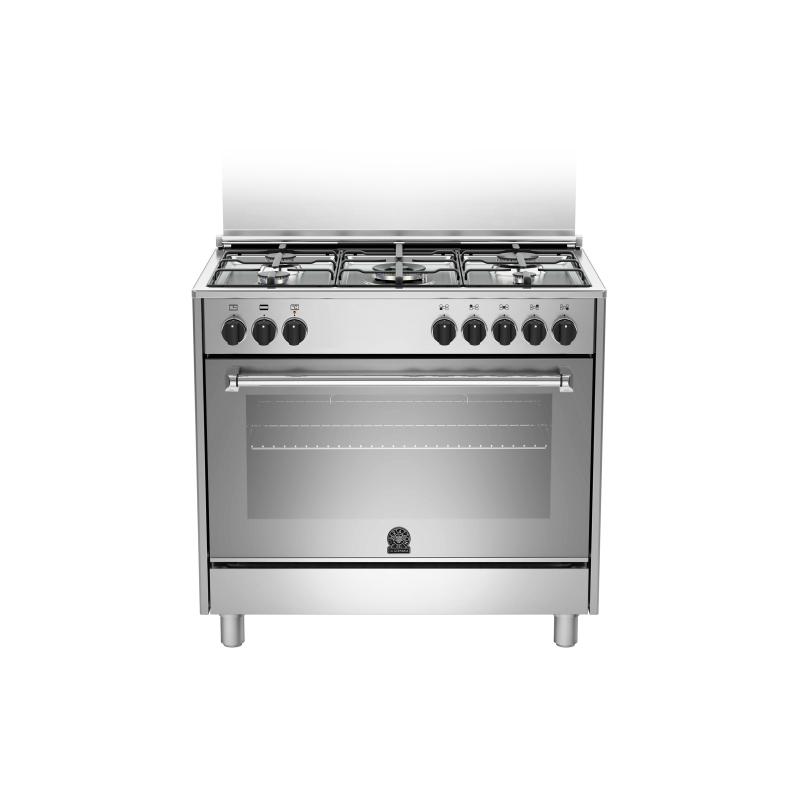 Cucina la germania amn905mfesxe 5 fuochi a gas forno elettrico multifunzione inox 90x60 - Cucine ariston forno elettrico ...