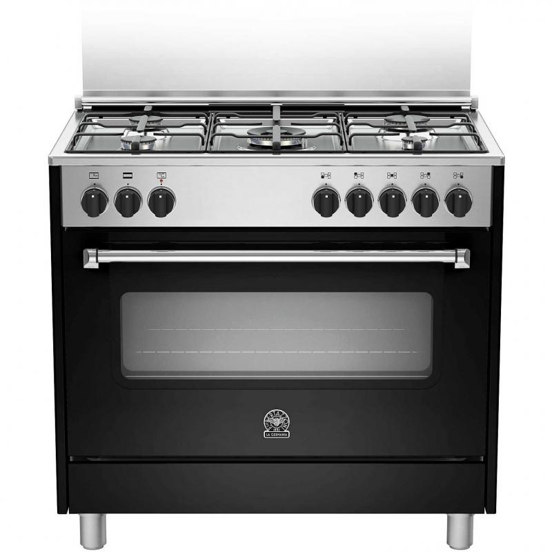 Cucina la germania amn905mfesnee 5 fuochi a gas forno elettrico multifunzione 90x60 nero inox - Cucine a gas samsung ...