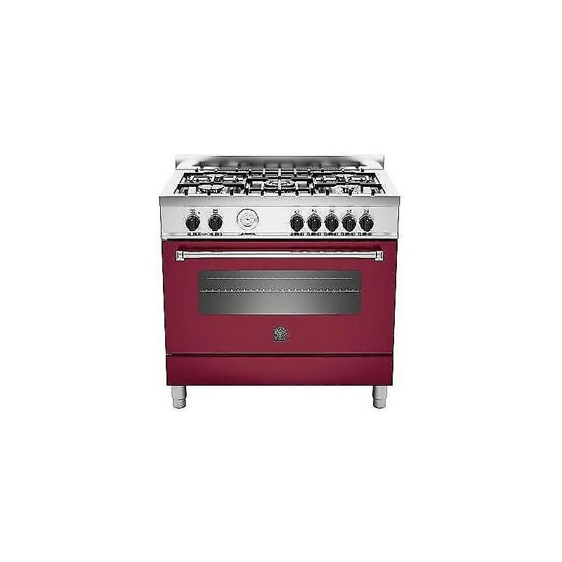 Cucina la germania am95c61bvi 90x60 colore rosso vino 5 fuochi forno elettrico ventilato - Cucine a gas la germania ...