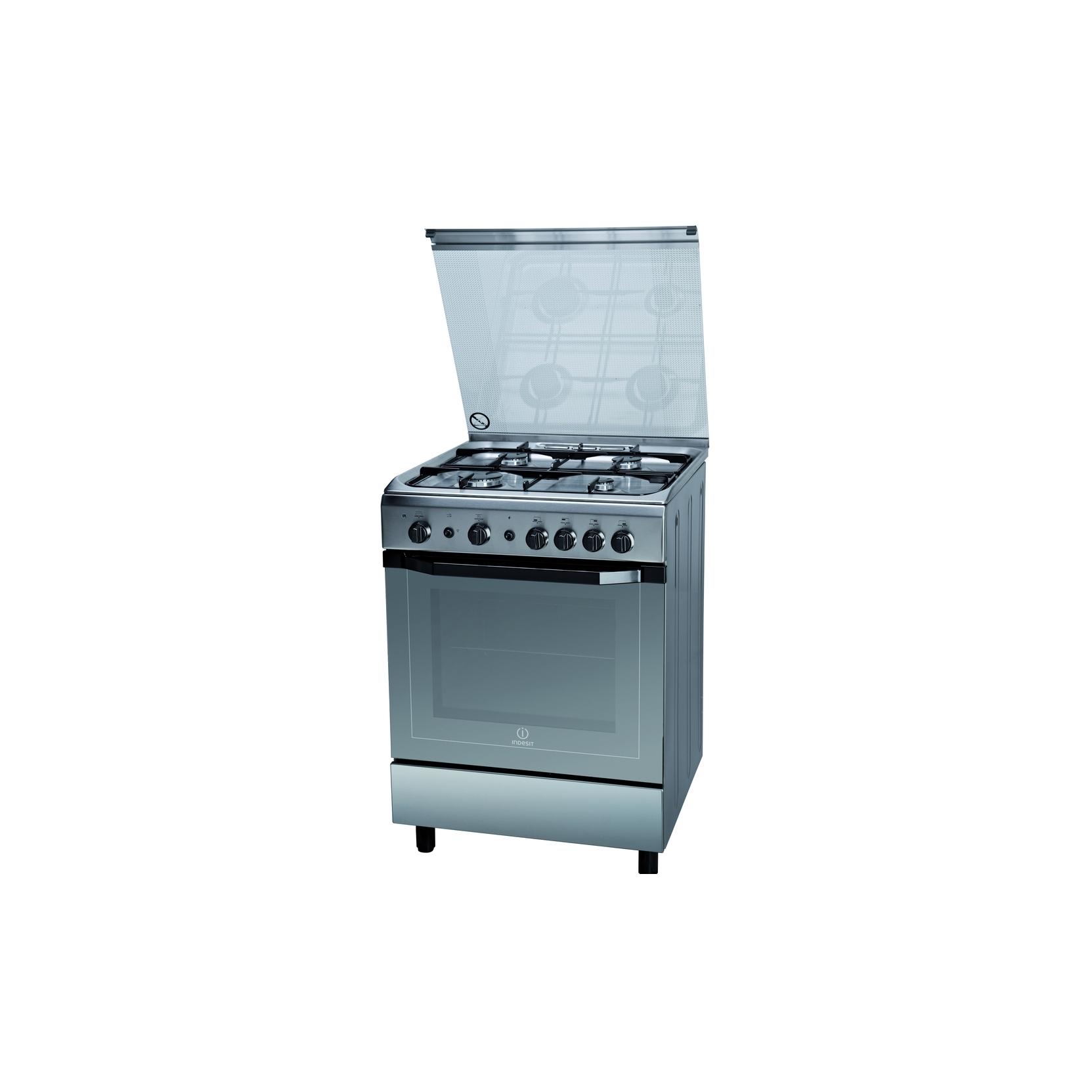 Cucina indesit i6gg1f x i inox 60x60 4 fuochi forno a gas garanzia italia elettrovillage - Cucine a gas libera installazione ...