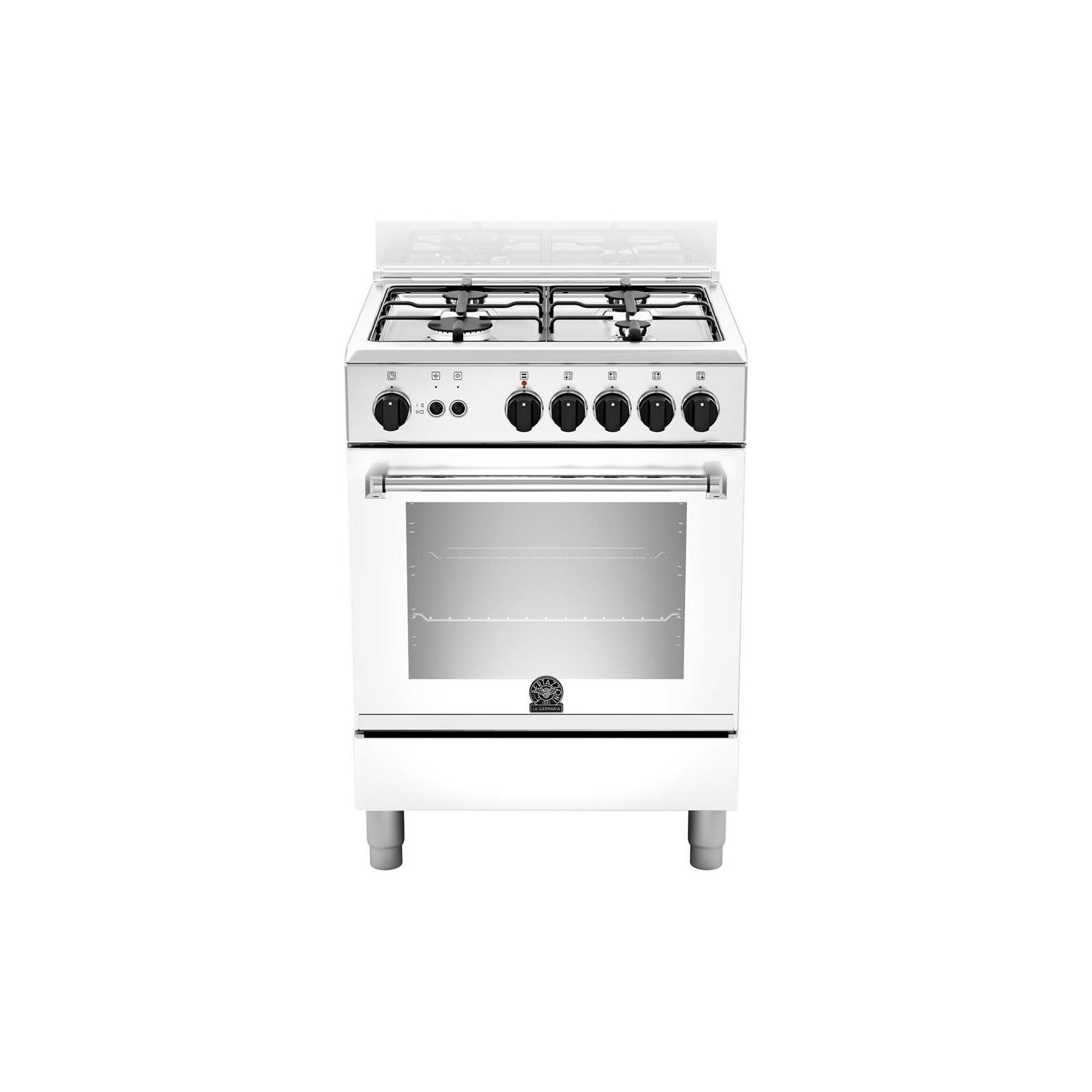 Cucina la germania amn604gevswe 60x60 bianca 4 f a gas forno a gas garanzia italia - Cucine a gas la germania ...