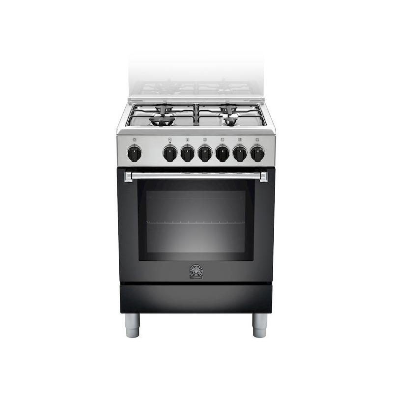 Cucina la germania amn604mfesnee 60x60 nera 4 f a gas forno elettrico multifunzione garanzia - Cucine a gas samsung ...