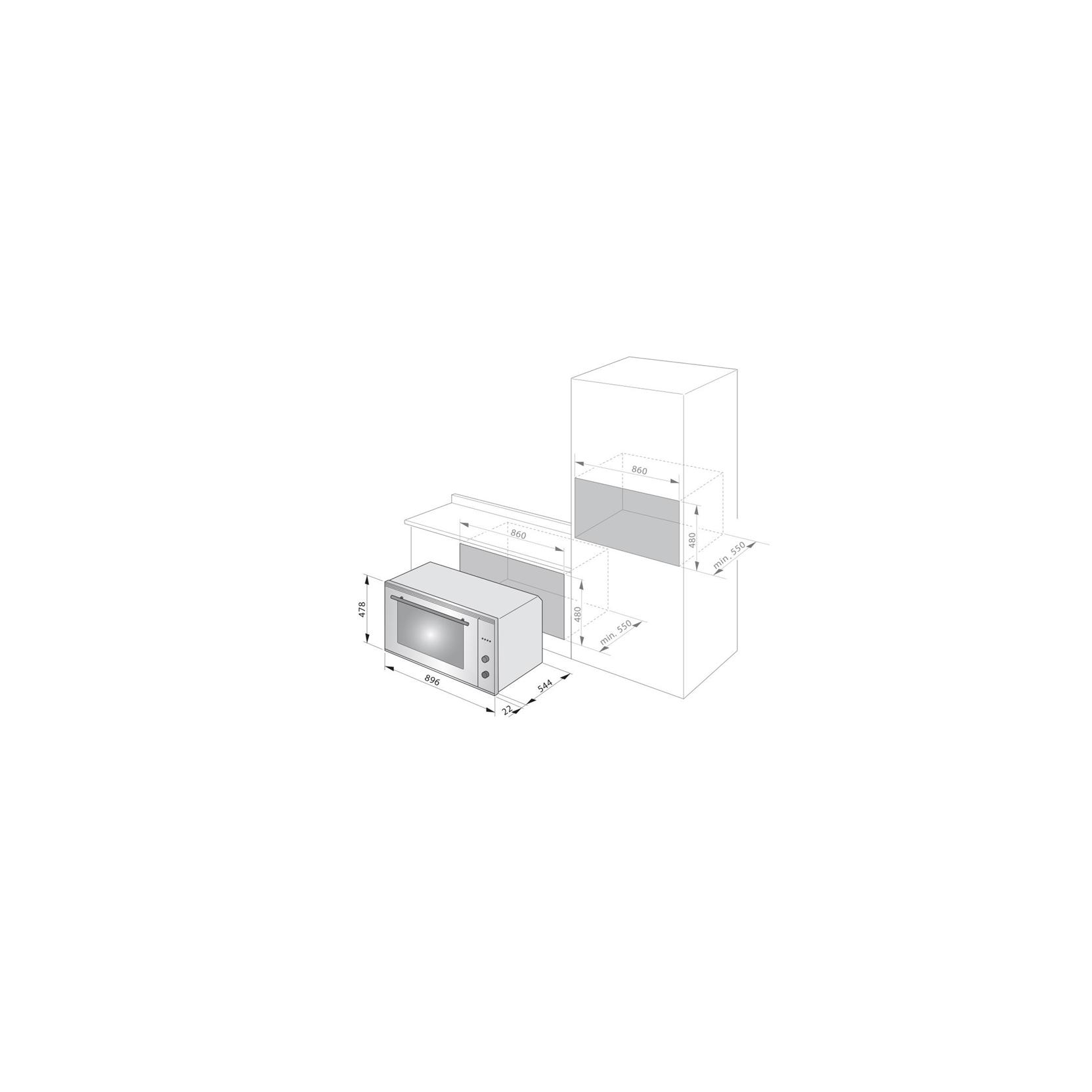 Forno da incasso elettrico multifunzione de longhi fm9a6 da 90 cm classe a promozione - Forno da incasso elettrico ...