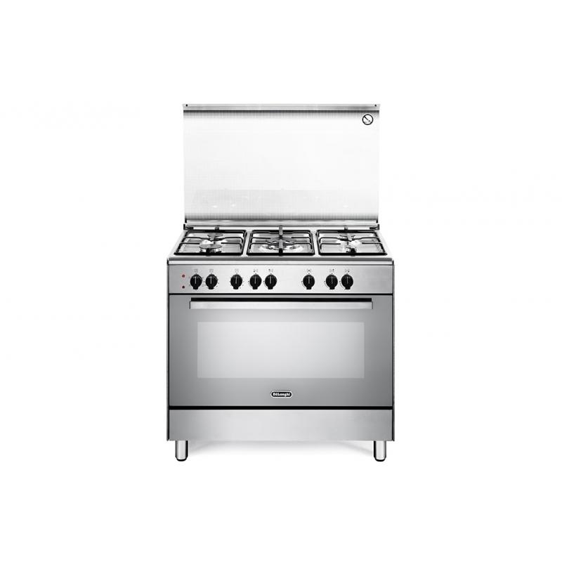 Cucina de longhi demx96 90x60 5 fuochi a gas forno elettrico multifunzione colore inox - Cucina elettrica de longhi ...