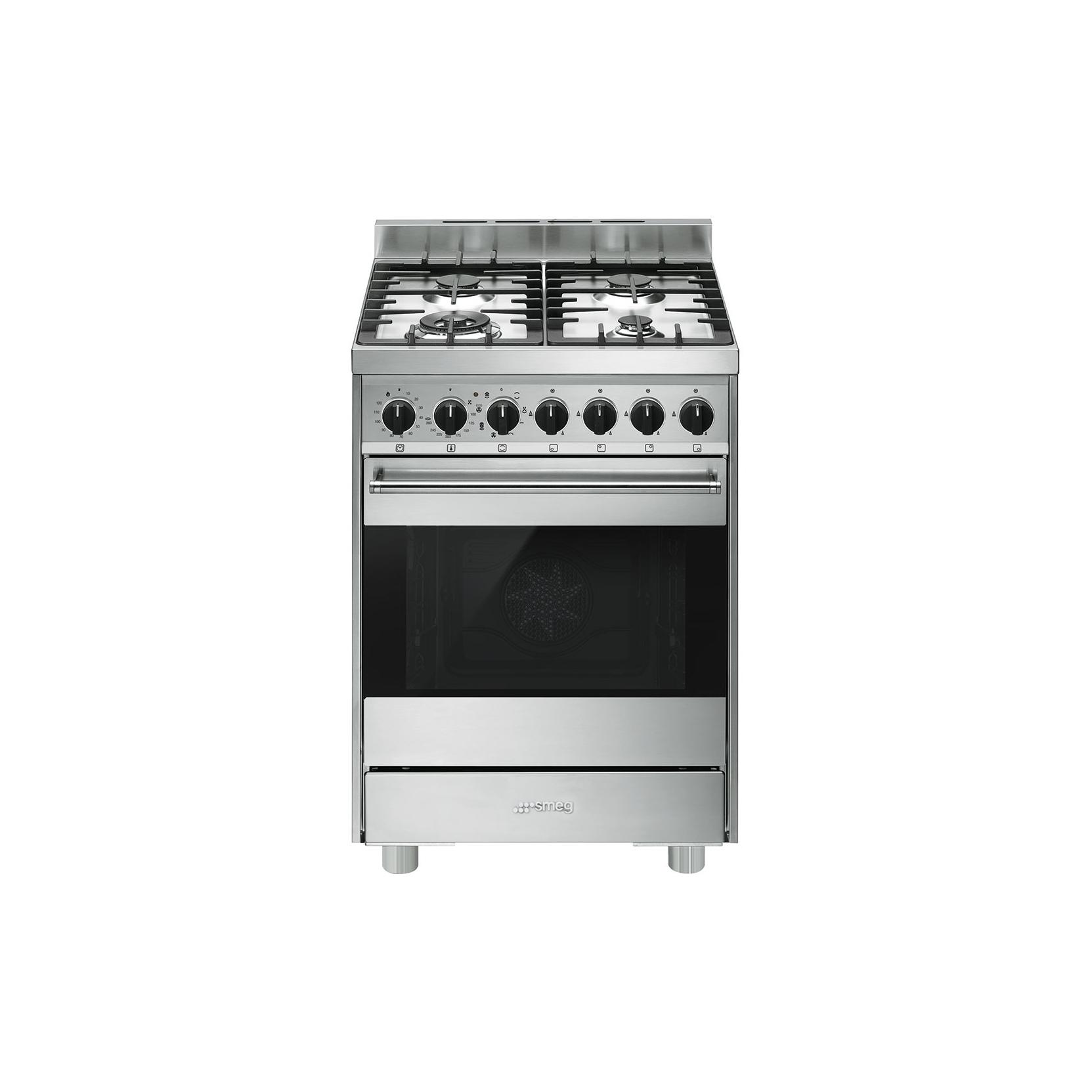 Smeg b6gmxi9 cucina a gas forno elettrico multifunzione 60x60 cm inox garanzia italia - Cucina con forno ventilato ...