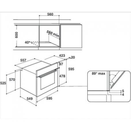 Hotpoint Ariston Forno Incasso Elettrico Multifunzione Classe A 60 cm FA2530HIX