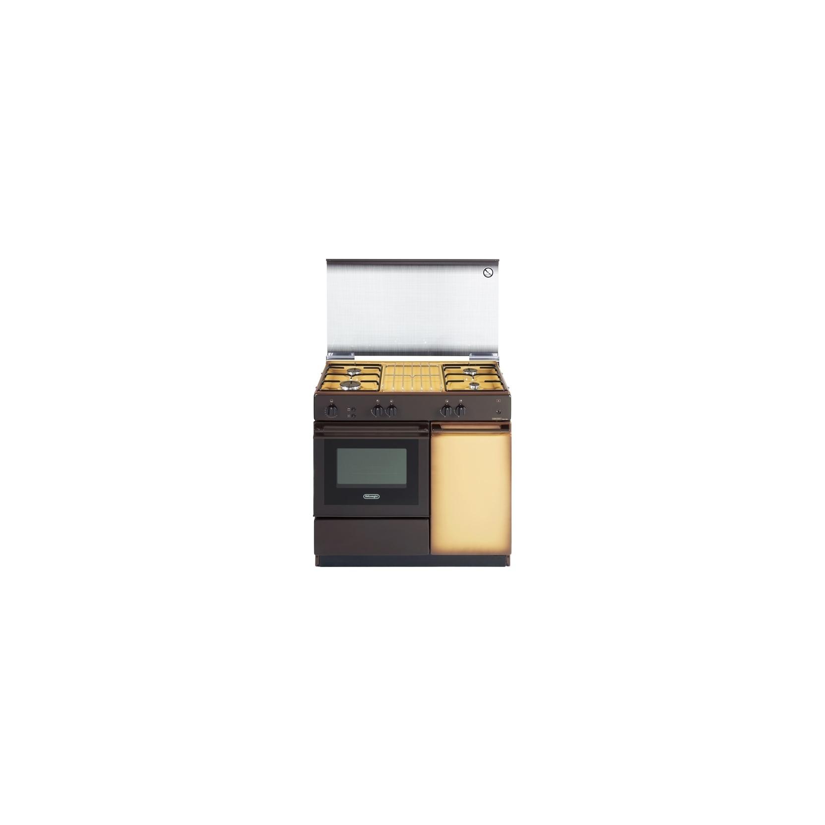 Cucina de longhi sggk854n marrone 4 fuochi a gas 86x50 forno a gas con grill elettrico - Cucina elettrica de longhi ...