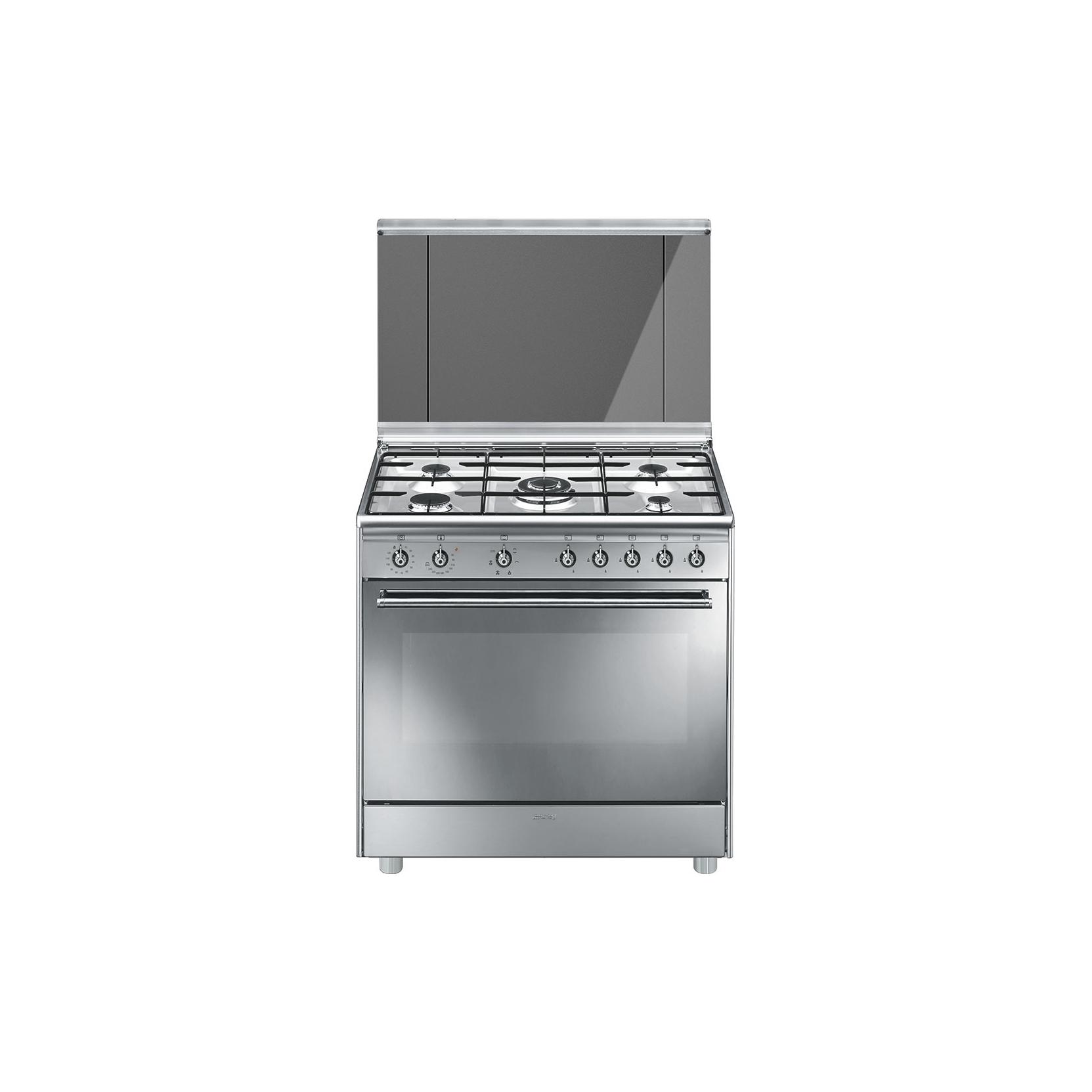Cucina smeg sx91sv9 5 fuochi forno multifunzione dimensione 90 x 60cm colore inox classe a - Cucina smeg 5 fuochi ...