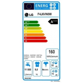 LAVATRICE LG F4J6VN0W 9 KG CLASSE A+++-20% 1400 GIRI BIANCO - PROMOZIONE