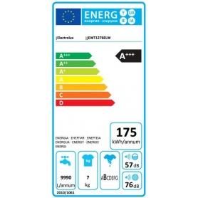 ELECTROLUX EWT1276EEW LAVATRICE CARICA DALL'ALTO 7KG 1200 GIRI CLASSE A+++ BIANCA - PROMOZIONE
