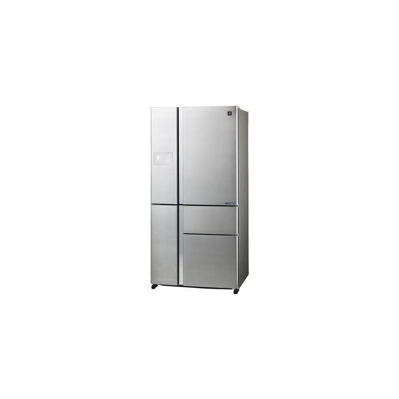 Sharp sjpx830fsl frigo side by side 5 porte 665lt classe for Sharp frigoriferi 4 porte
