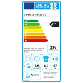 CANDY CSH8A2DE-S ASCIUGATRICE 8KG CLASSE A++ SMART - GARANZIA ITALIA - PROMOZIONE
