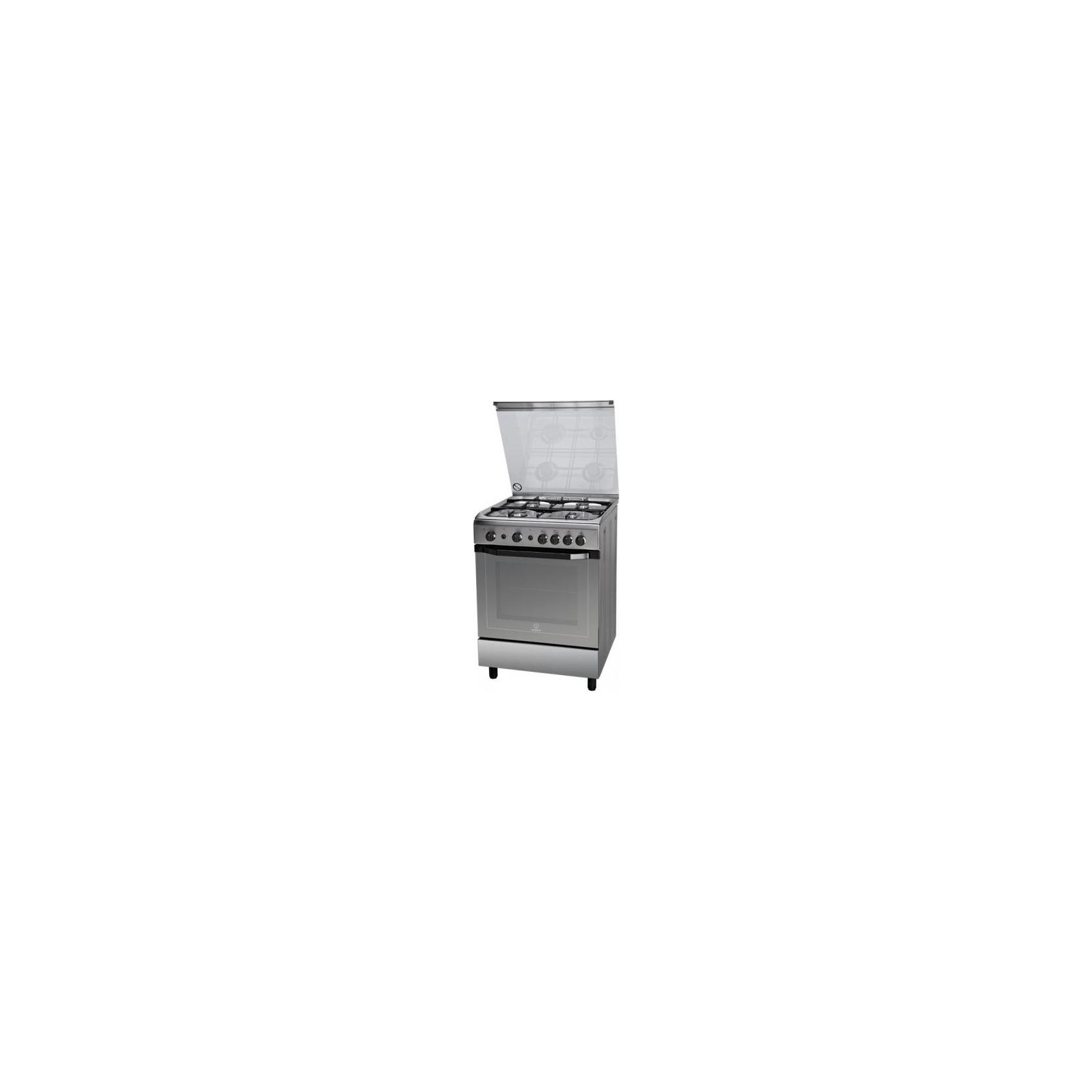 Cucina indesit i6gg1f x i inox 60x60 4 fuochi forno a gas garanzia italia elettrovillage - Cucine a gas indesit ...