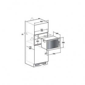 FORNO A MICROONDE INCASSO HOTPOINT MWK222.1X/HA - 25 LITRI 900 W COMBI INOX - GARANZIA ITALIA - PROMOZIONE