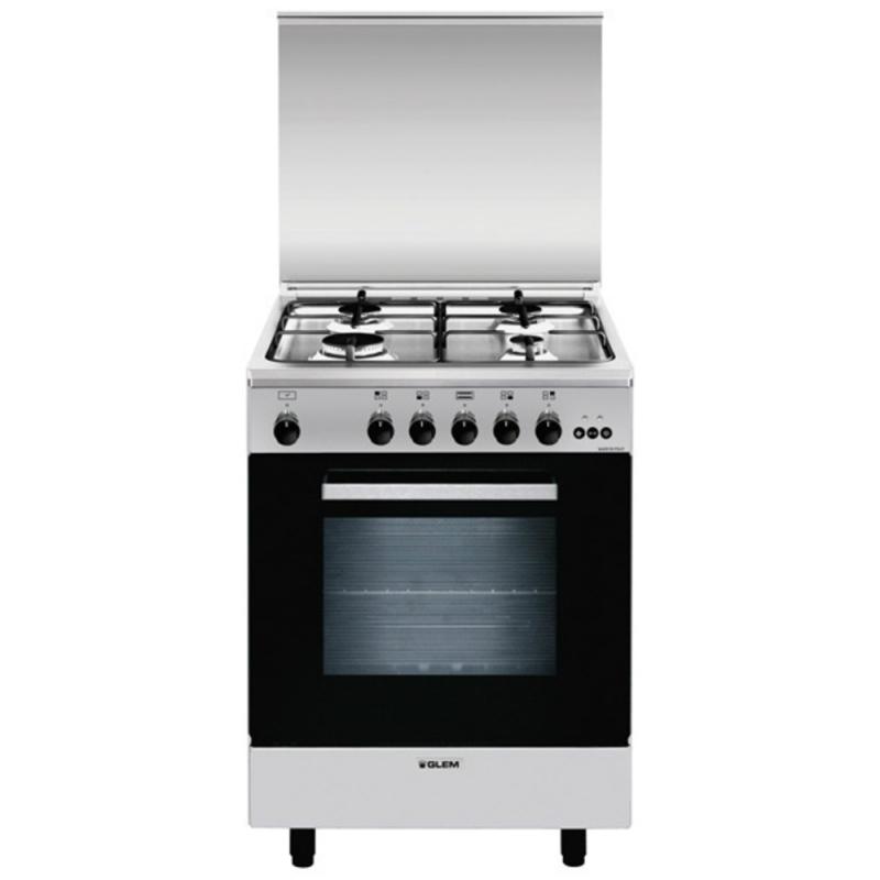 Glem gas a664vi cucina a gas 4 fuochi forno a gas ventilato con grill 60x60 cm classe a - Whirlpool cucine a gas con forno ...