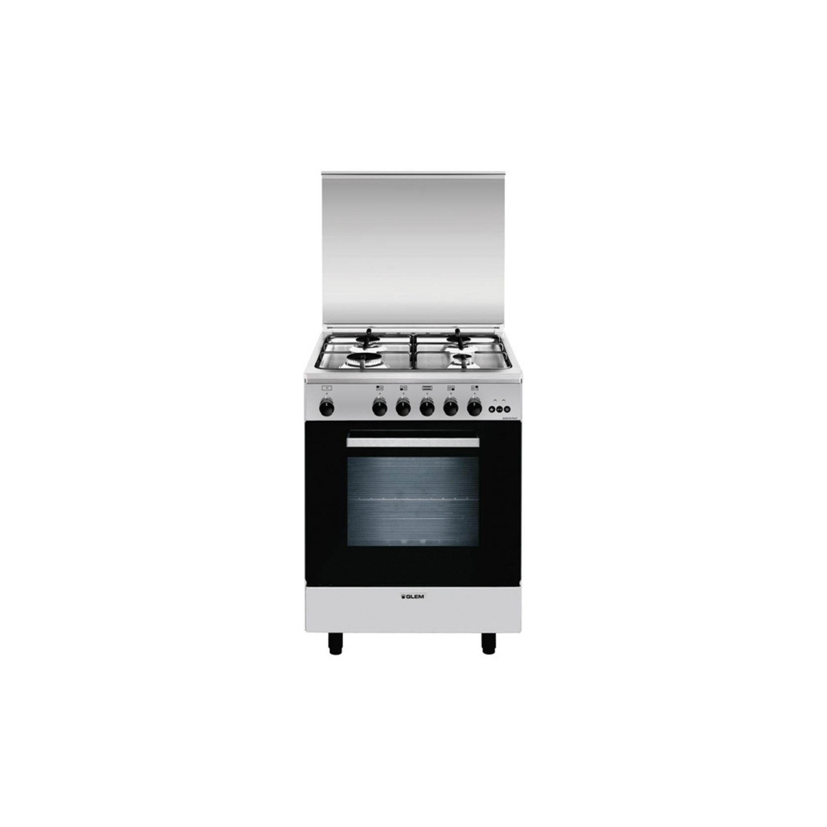 Glem gas a664vi cucina a gas 4 fuochi forno a gas ventilato con grill 60x60 cm classe a - Cucina con forno a gas ventilato ...