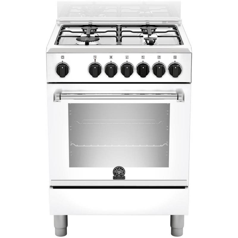 La Germania Amn604mfeswe Bianca Cucina 4 Fuochi A Gas Forno Elettrico Multifunzione Classe A Garanzia Italia Promozione