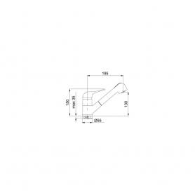 MISCELATORE FRANKE NOVARA PLUS 0738130 cod. 115.0470.665 COLORE AVENA CON DOCCETTA - PROMOZIONE