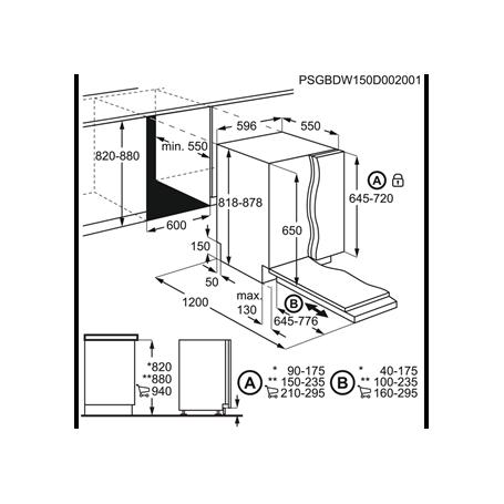AEG FSB41600Z LAVASTOVIGLIE DA INCASSO AIRDRY 13 COPERTI 60CM CLASSE A+ -  PROMOZIONE