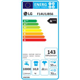 LG F14U1JBS6 LAVATRICE 10KG 1400 GIRI CLASSE A+++-40% COLORE GRIGIO - PROMO -