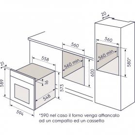 FORNO INCASSO REX ELECTROLUX FQ53B BIANCO VENTILATO -FUNZIONE PIZZA - PROMOZIONE