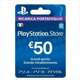 PLAYSTATION STORE RICARICA PORTAFOGLIO DI 50 €